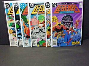 Legends 1-6 Some Newsstand 1st Amanda Waller Suicide Squad DC Comics Set Lot