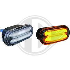 LED Lightbar Seitenblinker, Blinker Schwarz-klar VW + Seat + Ford Modelle