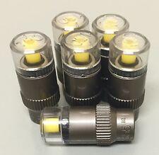 Tire Pressure Monitor Valve Stem Cap Tyre Sensor Indicator New 100 psi set of 6