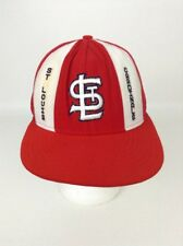 Vintage 80's Baseball Trucker Snapback Cap Hat ST LOUIS CARDINALS Red & White