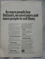 1969 Datsun Original advert No.1