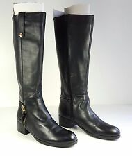 $189 size 7 GUESS Tafn Tall Black Leather Knee High Riding Boots Womens shoes