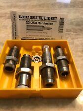 LEE Deluxe 22/250 REM Dies & factory Crimp (4) Die Set c/w #2 shell holder