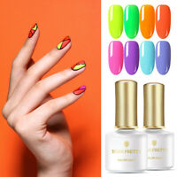 BORN PRETTY 6ml Fluorescence Gel Nail Polish Shining Nail Gel Varnish 12 Colors