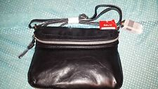 RELIC by FOSSIL Crossbody Faux Leather Handbag Fold Over Flap Closure Black NWT