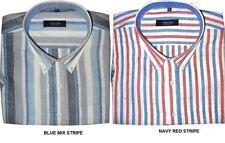 Camicie casual e maglie da uomo blu in lino