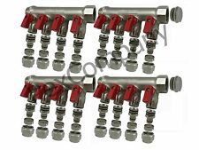 "8 port ball valve Classic manifold for 1/2"" PEX Radiant"