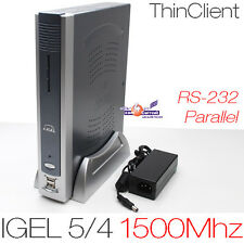 1500 MHz Thin Client Igel 5/4 512mb ddr2 di RAM 512mb CF-CARD rs-232 DVI Parallelo