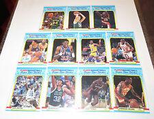 1988/89 Fleer NBA Basketball All-Star Stickers 11-Card Insert Set Jordan Bird NM