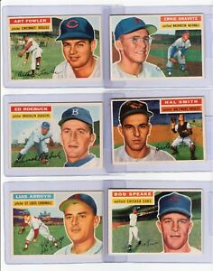 (24) 1956 TOPPS DIFFERENT BASEBALL CARDS MOST ARE NM-MT #47 - #338 RAZOR SHARP