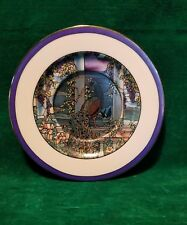 "HAMILTON 1989 ""Stained Glass Gardens"" Ltd. Ed. ""PEACOCK & WISTERIA"" Plate #3754A"