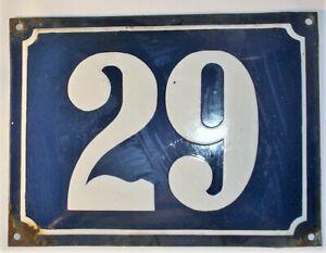 29 VINTAGE PORCELAIN PLATE House Door Number Street Sign Enamel CROATIA 20X15 cm