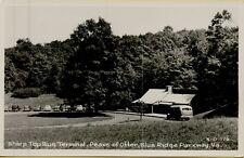 Sharp Top Bus Terminal Peaks of Otter Blue Ridge Parkway VA RPPC Postcard B21