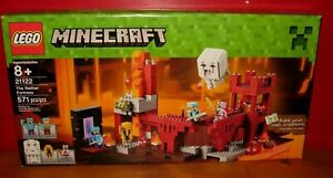 NEW Minecraft LEGO Set THE NETHER FORTRESS 21122 Zombie Pigman GHAST FIG Ages 8+