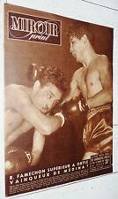 MIROIR SPRINT N°180 1949 BOXE FAMECHON ORTIZ FOOTBALL TOULOUSE RACING RUGBY
