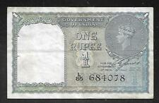 INDIA - Old 1 Rupee Note - 1940 - P25a - VF+