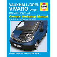 Vauxhall/Opel Vivaro Haynes Manual  2001-10  1.9 2.0 Diesel Workshop Manual
