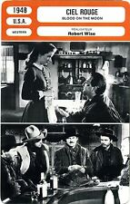Fiche Cinéma. Movie Card. Ciel rouge / Blood on the moon (USA) Robert Wise 1948