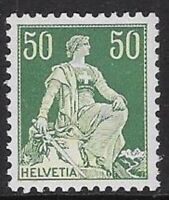 Switzerland 1918 50c Helvetia w/ Sword Sc #139 MNH VF, CV $24.00 - cw77.21