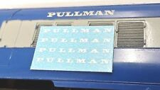 TRIANG HORNBY PULLMAN X4 CAPITAL OO GAUGE TRAIN COACH TRANSFERS DECAL SPARES