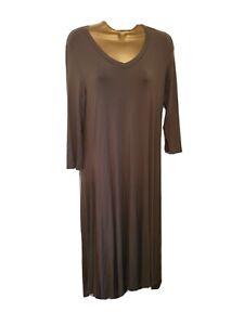 Join Clothes Dress with Godet Detail Dress - Mocha - Medium