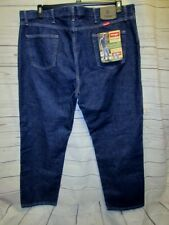 VTG NOS Wrangler Jeans 46x30 Denim Regular Fit U Shaped Rear 5 star Blue