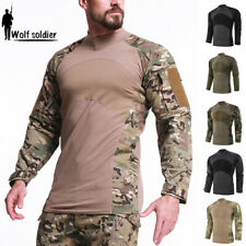 Army Mens Tactical T-Shirt Military Combat Pullover Outdoor Casual Shirts Hiking