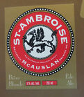 VINTAGE CANADIAN BEER LABEL - McAUSLAN BREWERY, ST AMBROISE PALE ALE 355 ML
