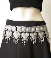 Tribal Belly Dance BELT Bohemian Gypsy Hippie Boho Skirt Costume Waist Jewelry