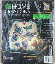 Alice Peterson Co. #6180 Fantasy Butterfly Needlepoint 14x14 Pillow Kit 2002 New