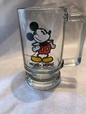 New Mickey Mouse Walt Disney Productions Glass Mug Stein