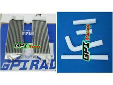 FOR YAMAHA WR400F WR 400F 1998-2000 1998 1999 99 aluminum radiator &white hose