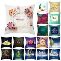 38 Style Eid Mubarak Ramadan Sofa Cushion Cover Throw Pillow Cover Islam Decor