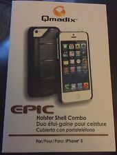 Qmadix Apple iPhone 5 Epic Holster Shell Combo - (black) New