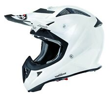 AIROH AVIATOR JUNIOR 2.1 COLOR WHITE KIDS MOTOCROSS HELMET ACU GOLD STAMP FITTED