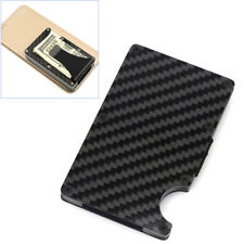 Stainless steel business credit card cases for men ebay slim carbon fiber credit card holder non scan metal wallet money clip purse reheart Images