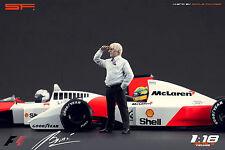 1/18 Bernie Ecclestone VERY RARE!!! figures for 1:18 Autoart CMC F1 Ferrari