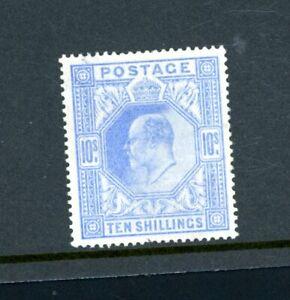 GB 1902  10s Ultramarine (SG 265)  Gum Crease, fine  L.H.M.     (O480)