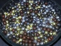 Wholesale 6MM Mixed Color Stardust Beads Round Spacer Loose Beads 50pc 6MM New