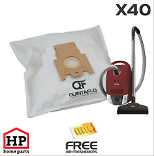 40xMiele FJM Type Vacuum Cleaner Hoover Bags,Cat+Dog Free Fresheners and Filters