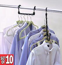 Closet Complete Magic Cascading Hangers TV Item Set of 10 Standard Clothes Hange