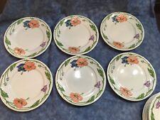 Villeroy & Boch Amapola Pattern 6 Salad Plates 8 1/4 Inches