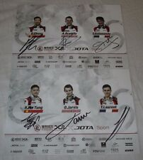 Le Mans 2017 LMP2 Winner 2nd Place Overall Jackie Chan DC Racing Signed Card Set