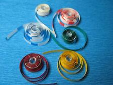 """Vorlaufband,Kennband Set 6 Farben a 5m 1/4"""" 6,3mm Studer,Revox usw"""