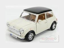 Mini Cooper 1969 White Black BURAGO 1:16 BU12036WH