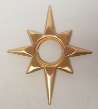 Mid Century Modern Bronze Sun Compass Rose Star Door Knob Surround NEW OLD STOCK