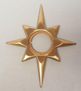 Mid Century Modern Bronze Sun Compass Rose Star Door Knob Surround NEW OLD STOCK