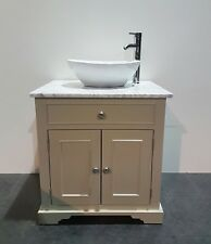 Traditional Granite Top Painted Vanity Unit 800mm Wide bathroom WashStand