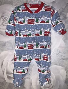 Boys Newborn - Jojo Maman Bebe Christmas Sleepsuit