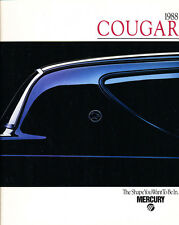 1988 Mercury Cougar and XR-7 16-page Original Car Sales Brochure Catalog